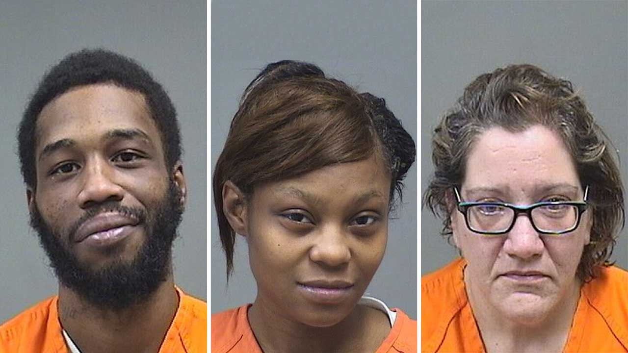 Tijuan Muldrow, Raeona Brown and Christina Guzzo, charged with drug possession and child endangerment in Youngstown, Ohio
