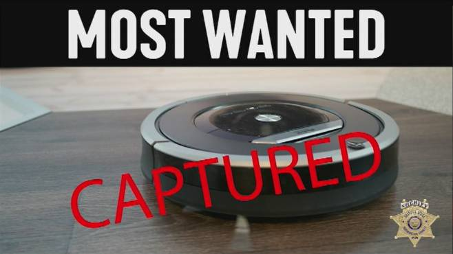 Burglar in bathroom turns out to be Roomba