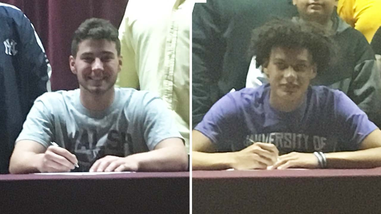 Zach Coman and Kameron Thomas from Liberty High School