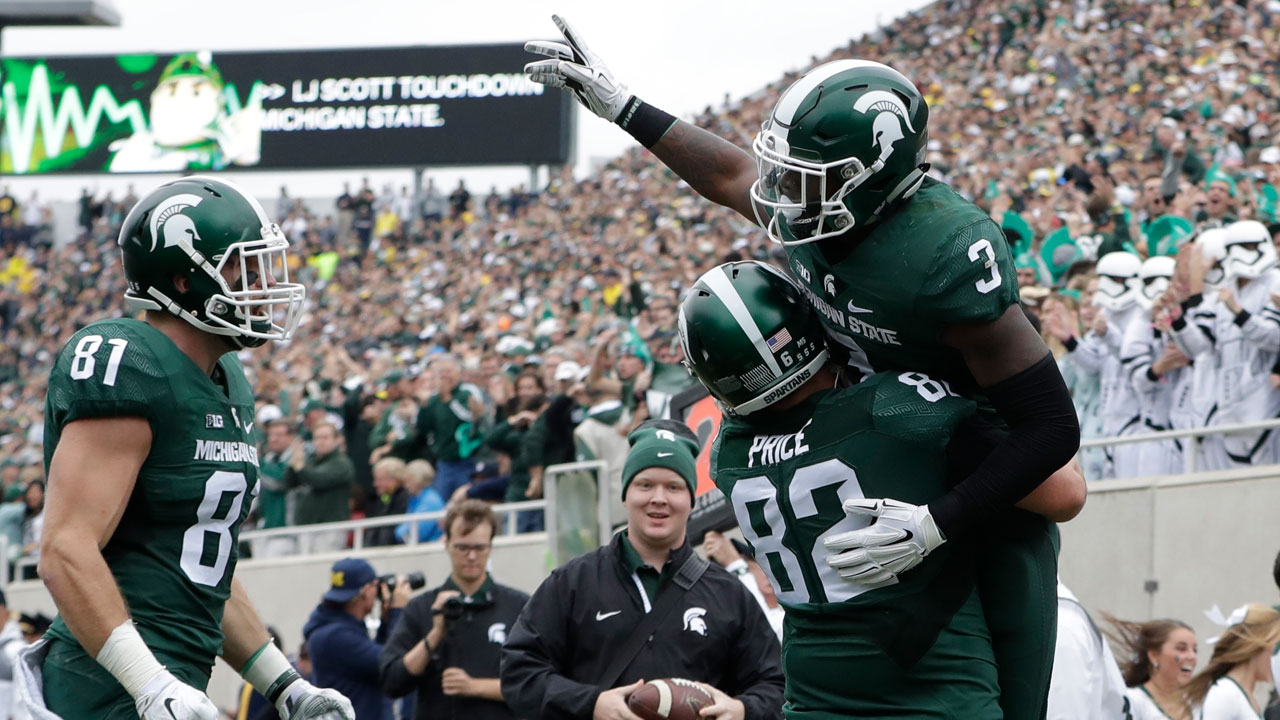 Michigan State running back LJ Scott