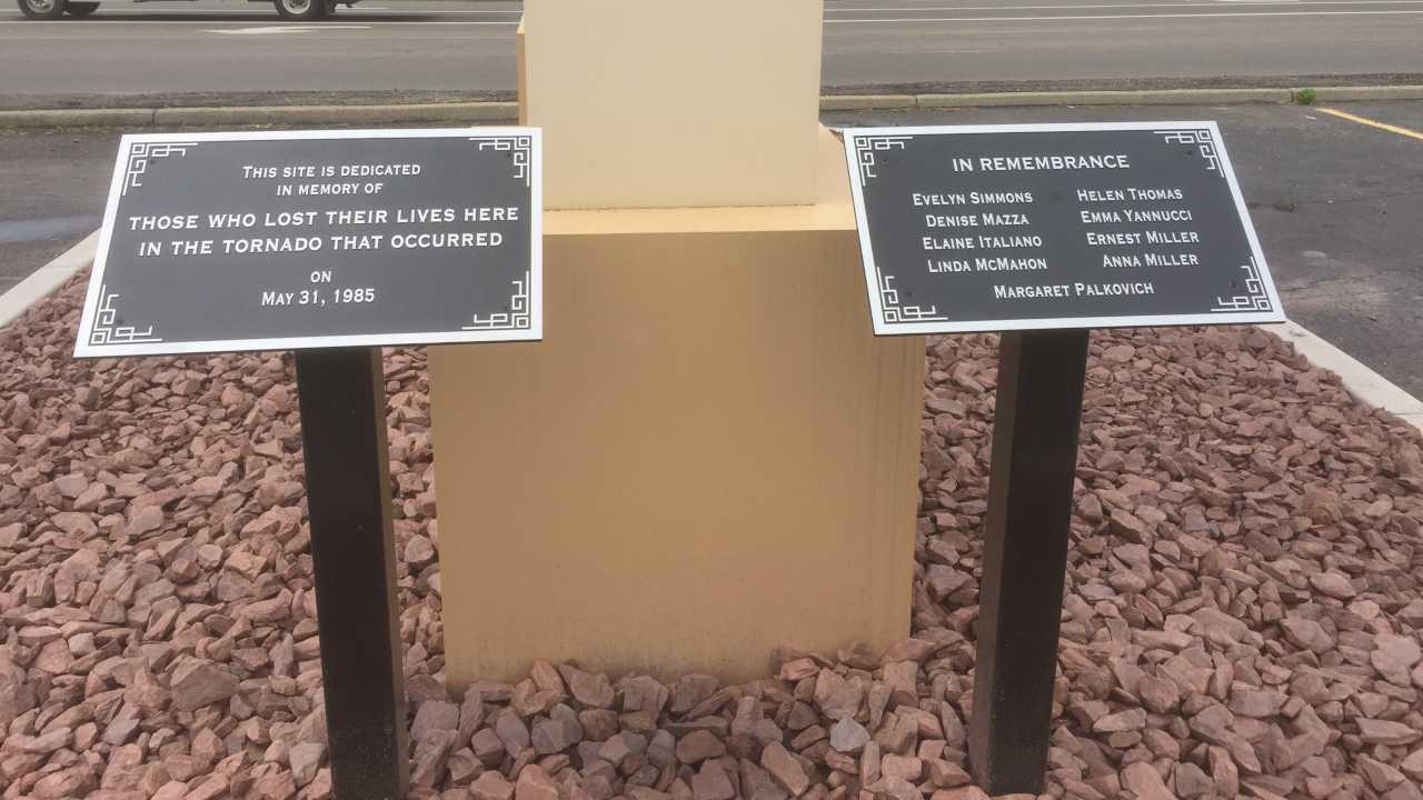 Niles Park Plaza tornado memorial