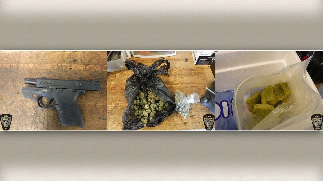 Ohio State Highway Patrol Troopers seize handgun and marijuana - OSP