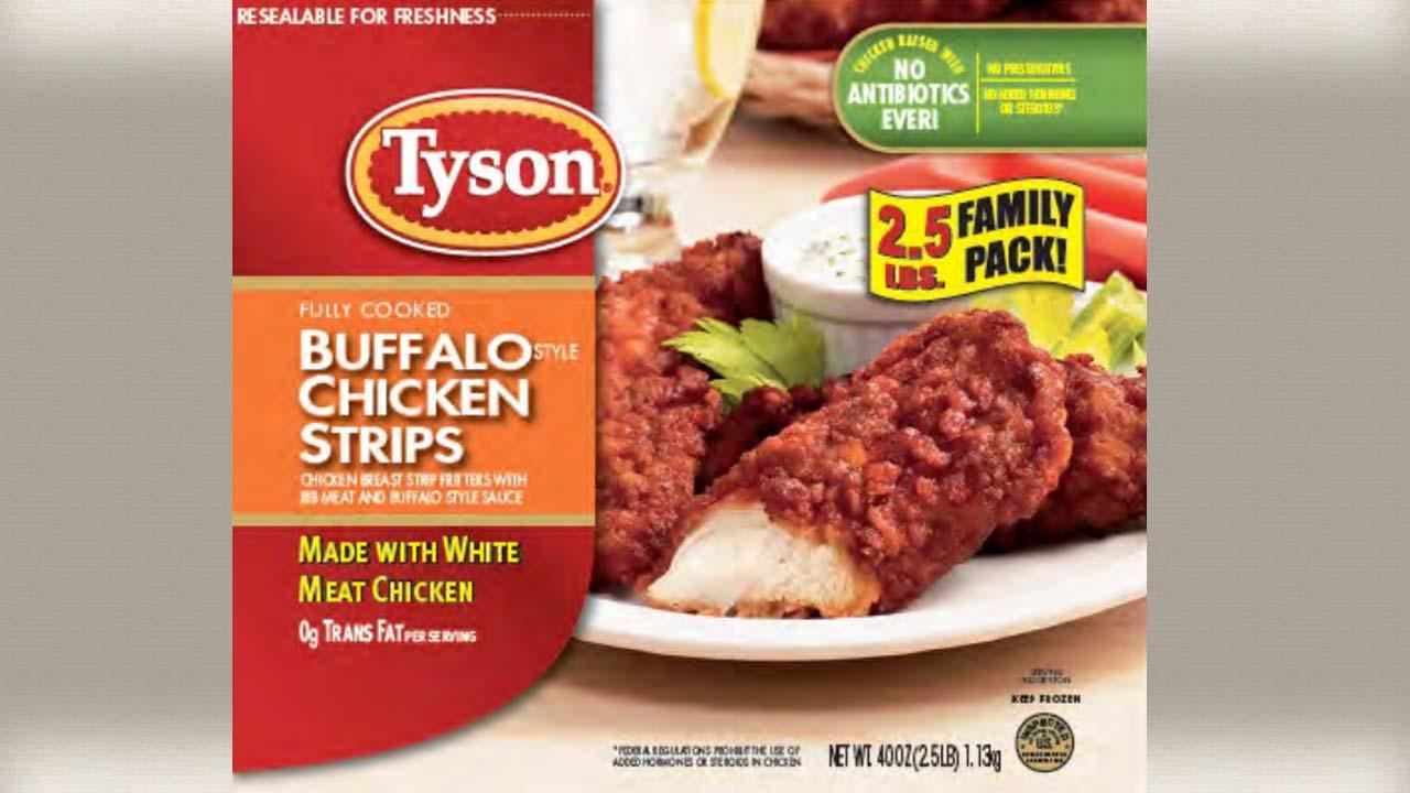 Tyson Buffalo Chicken Strips Recall