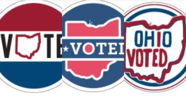 """Three finalists have been picked for the Ohio """"I Voted"""" sticker contest"""