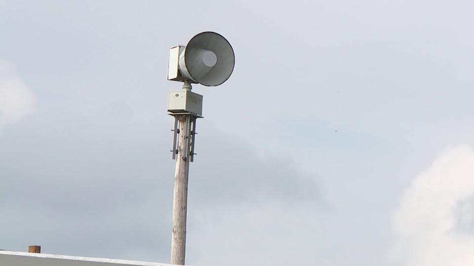 Tornado siren in Howland