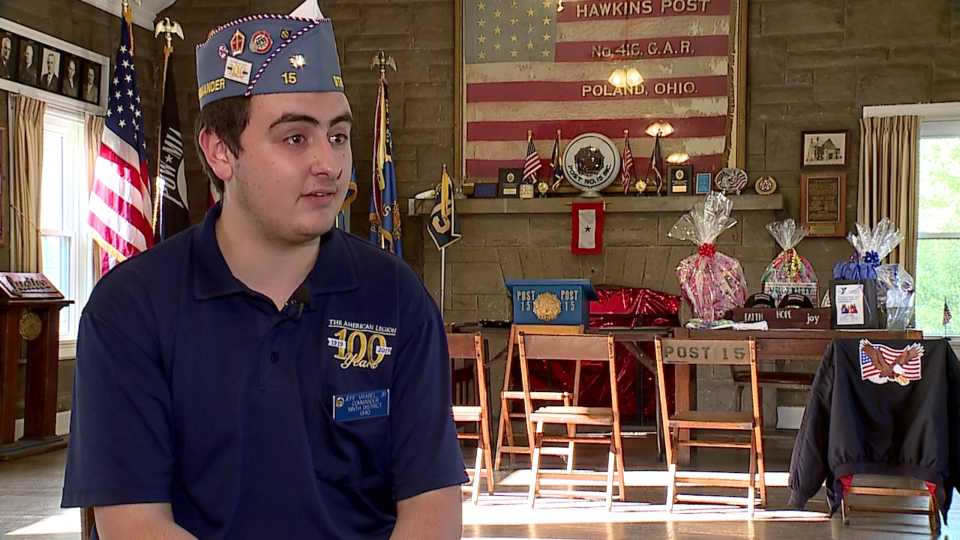 Jeff Vrable, Jr. works to recruit new members for American Legion Post 15 in Poland
