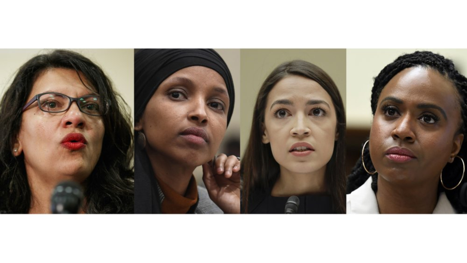 Omar, Rep. Alexandria Ocasio-Cortez of New York, Ayanna Pressley of Massachusetts and Rashida Tlaib of Michigan.