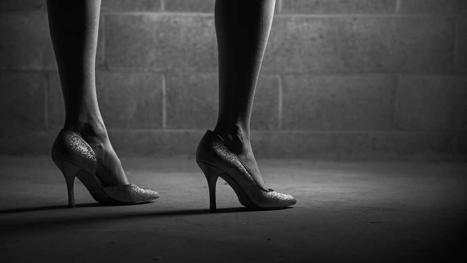 High heels, prostitution, human trafficking