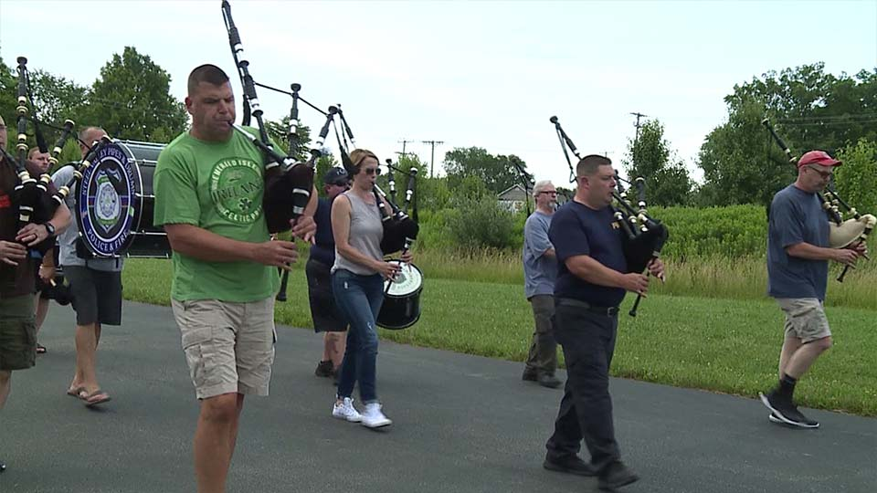 The Steel Valley Pipe and Drums group were featured in the Canfield parade. The band is made up police, fire and emergency medical service representatives from all over the Valley.