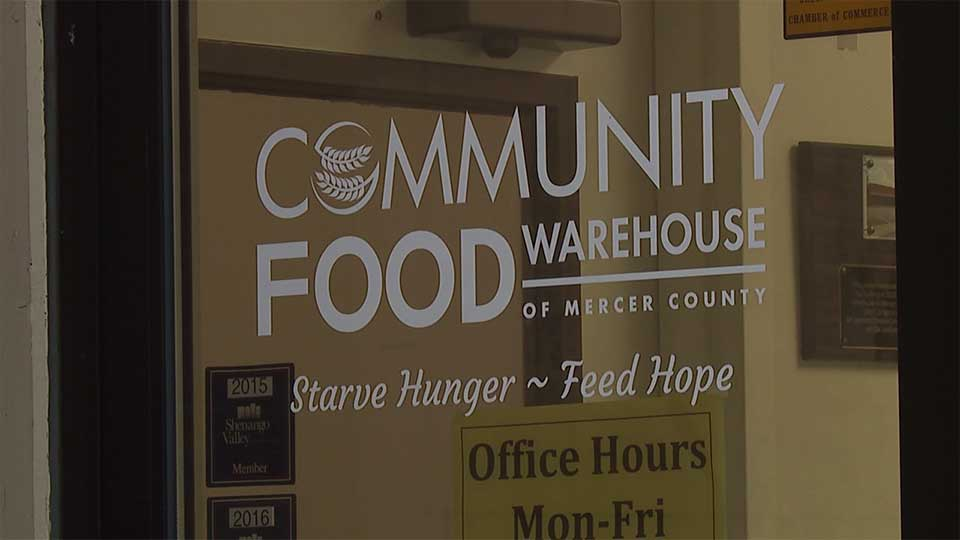 Representatives visited the Community Food Warehouse of Mercer County.