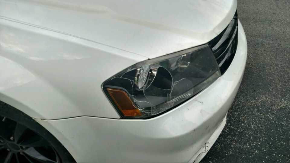 Greenville car vs pedestrian accident