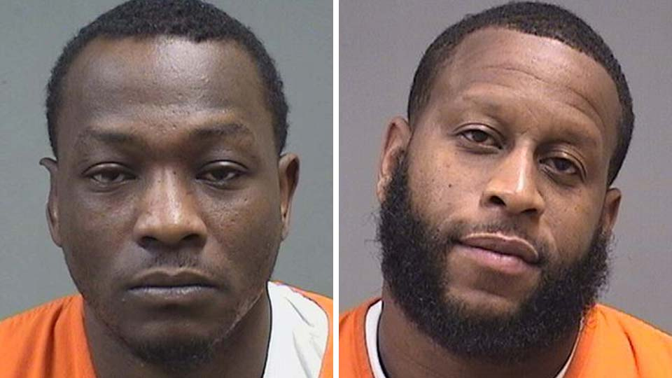 Jermaine Stroughter and Troy Pollard, charged in a Youngstown-area drug trafficking case.