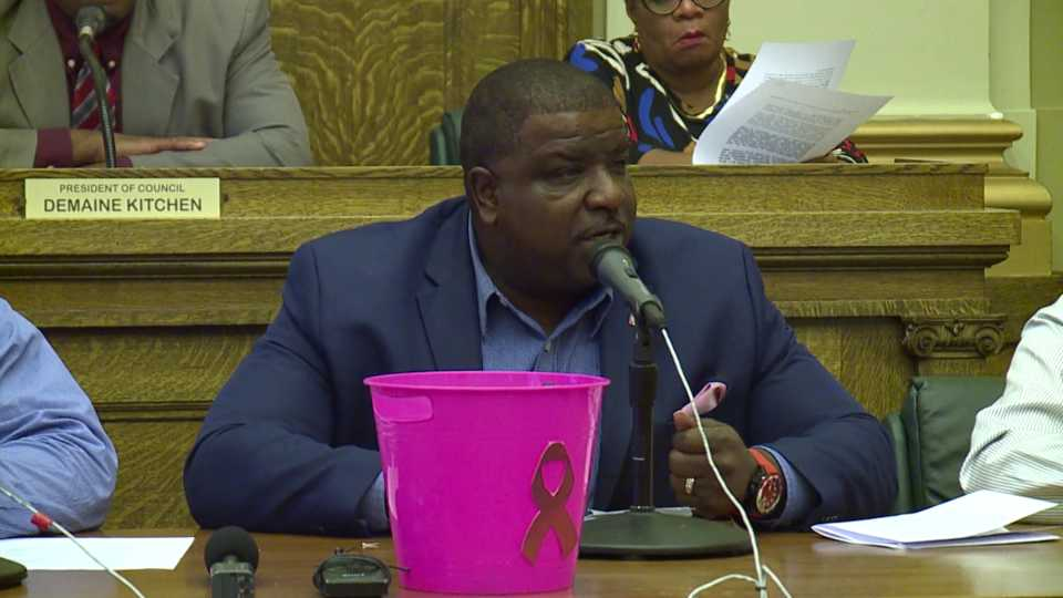Mayor Tito Brown criticizes comments made by firefighters' union during city council meeting.