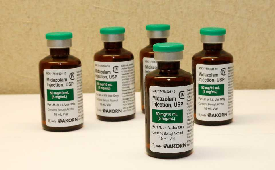 Sedative midazolam drug used for lethal injections