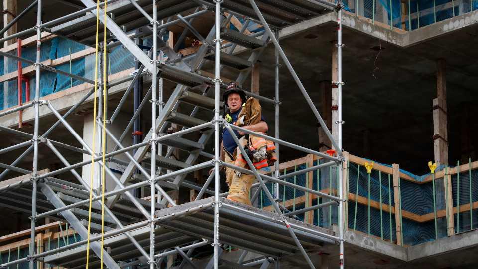 Cincinnati building collapse with three injured