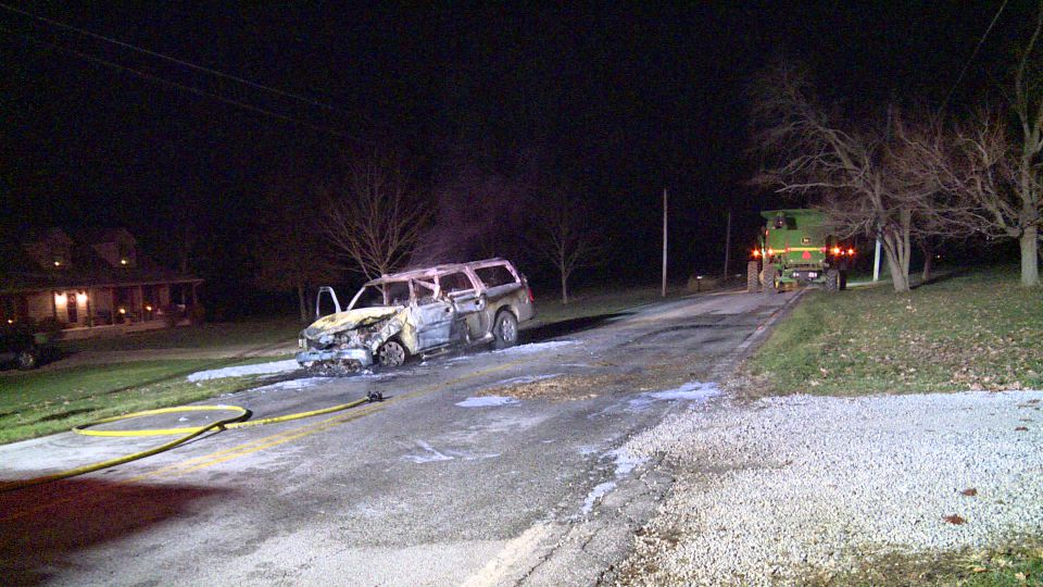 An SUV and a farm combine collided in Lordstown.