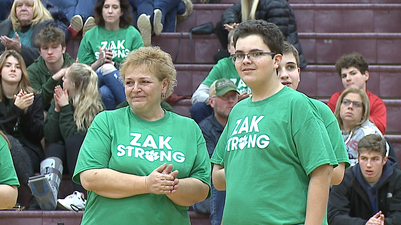 Liberty freshman Zak Stevens is battling kidney failure as fans from both Liberty and Niles showed their support Friday night