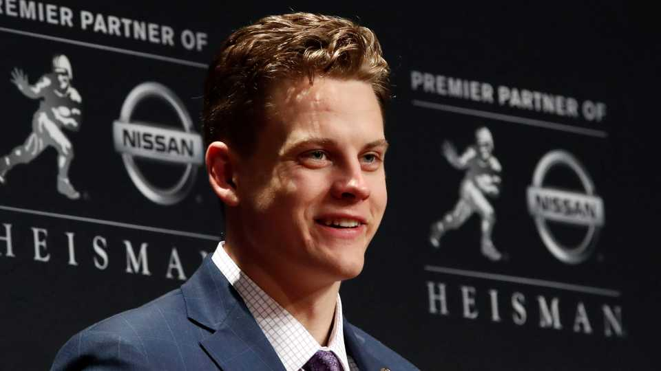 LSU quarterback Joe Burrow wins the Heisman Trophy