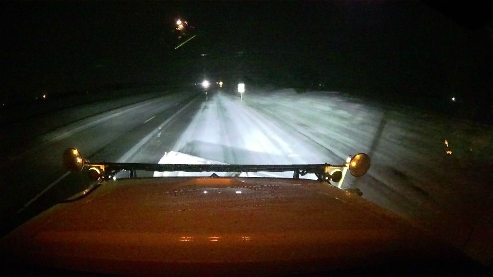 ODOT crews are out treating roads in Ohio.