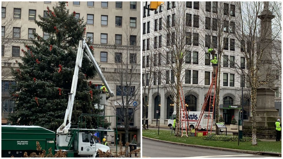 Youngstown holiday preparations.