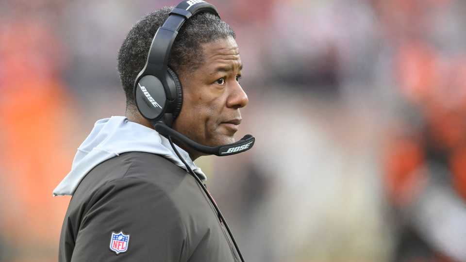 Cleveland Browns defensive coordinator Steve Wilks walks on the sideline during an NFL football game against the Cincinnati Bengals, Sunday, Dec. 8, 2019, in Cleveland. The Browns won 27-19.