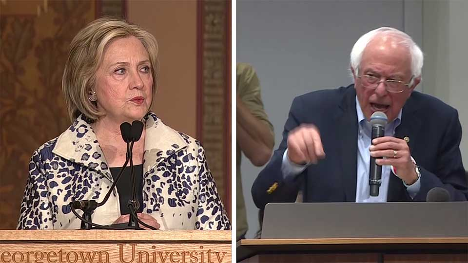 2016 Democratic presidential nominee Hillary Clinton has some harsh words for former rival, Bernie Sanders.