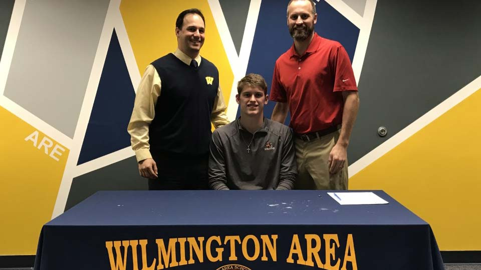 Wilmington High School's Junior McConahy signing