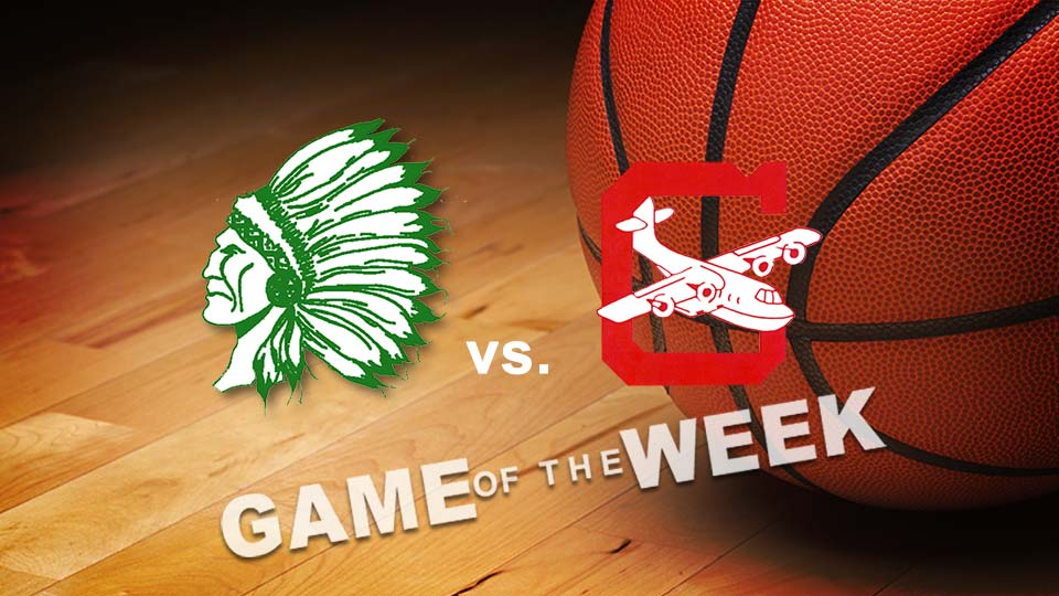 West Branch Warriors vs. Columbiana Clippers basketball Game of the Week graphic