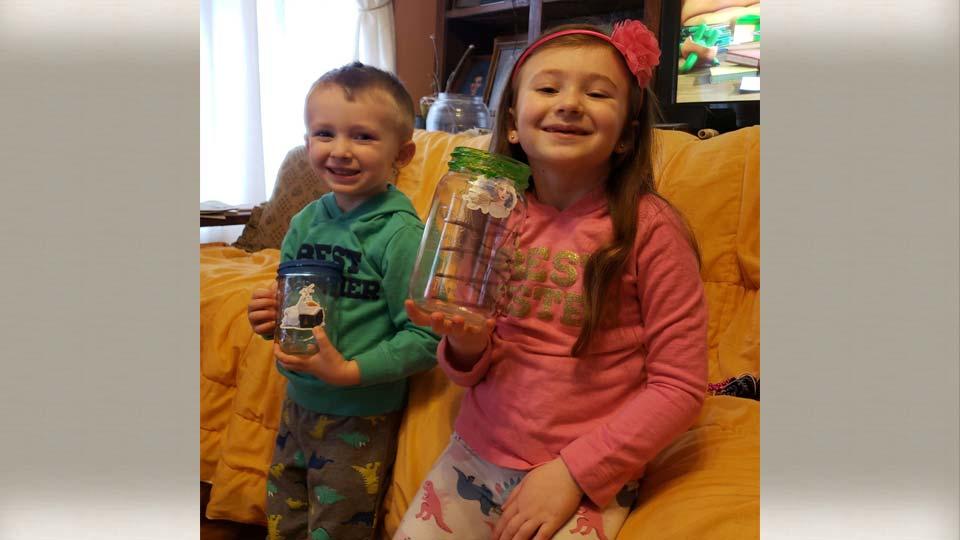Amelia, age 5, Elijah, 3, Hartford, Ohio