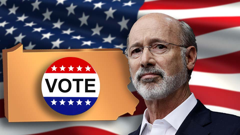 Gov. Tom Wolf signs Pa. vote bill.