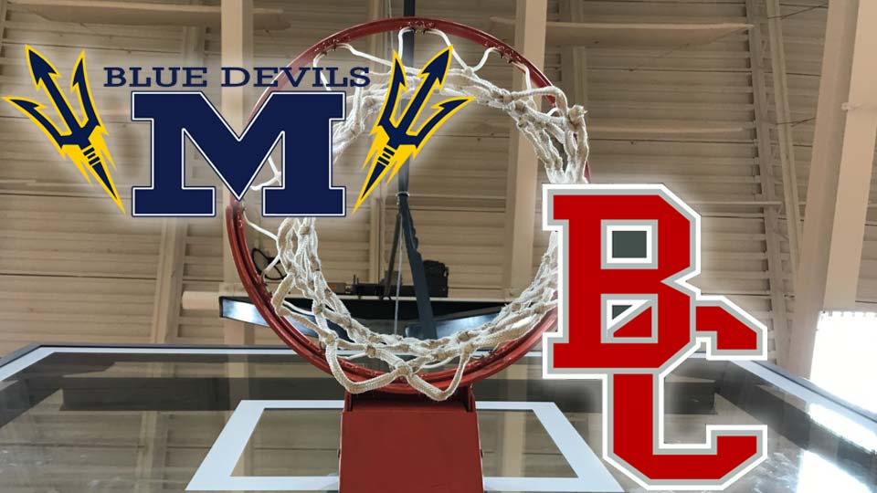 McDonald Blue Devils vs. Buckeye Central Bucks basketball graphic