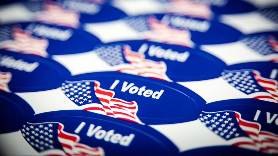 Voting stickers, generic