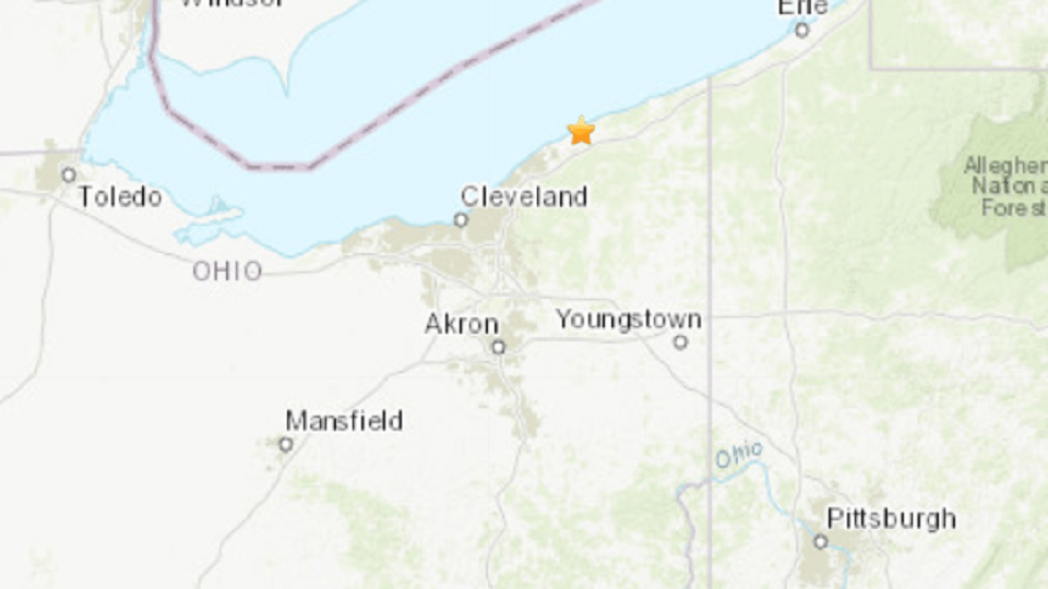 A small earthquake was recorded early Tuesday in Lake County, Ohio.