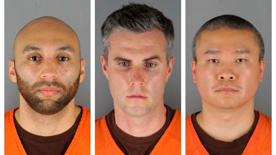 Judge: $750K bail for 3 ex-officers accused in Floyd's death.