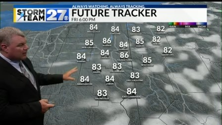 Warm and humid Friday - Cooler air on the way