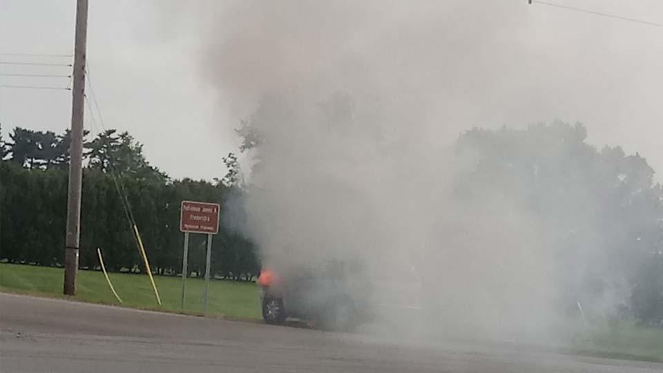 Brookfield car fire, August 12