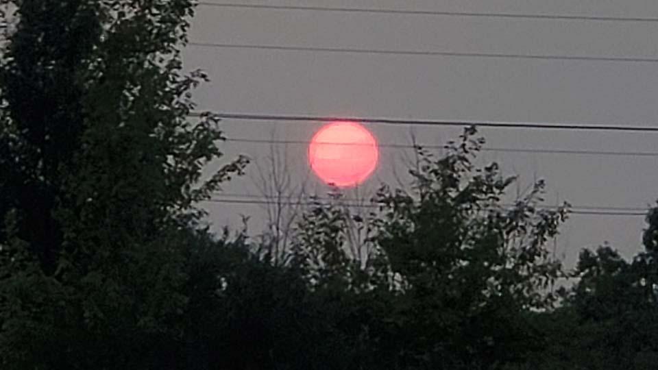 Red sun, Columbiana, Ohio