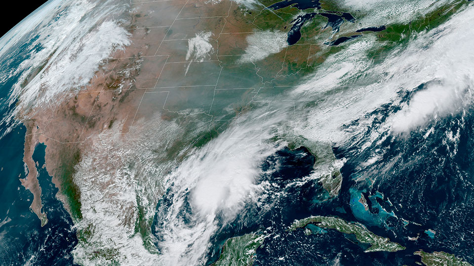 satellite image United States