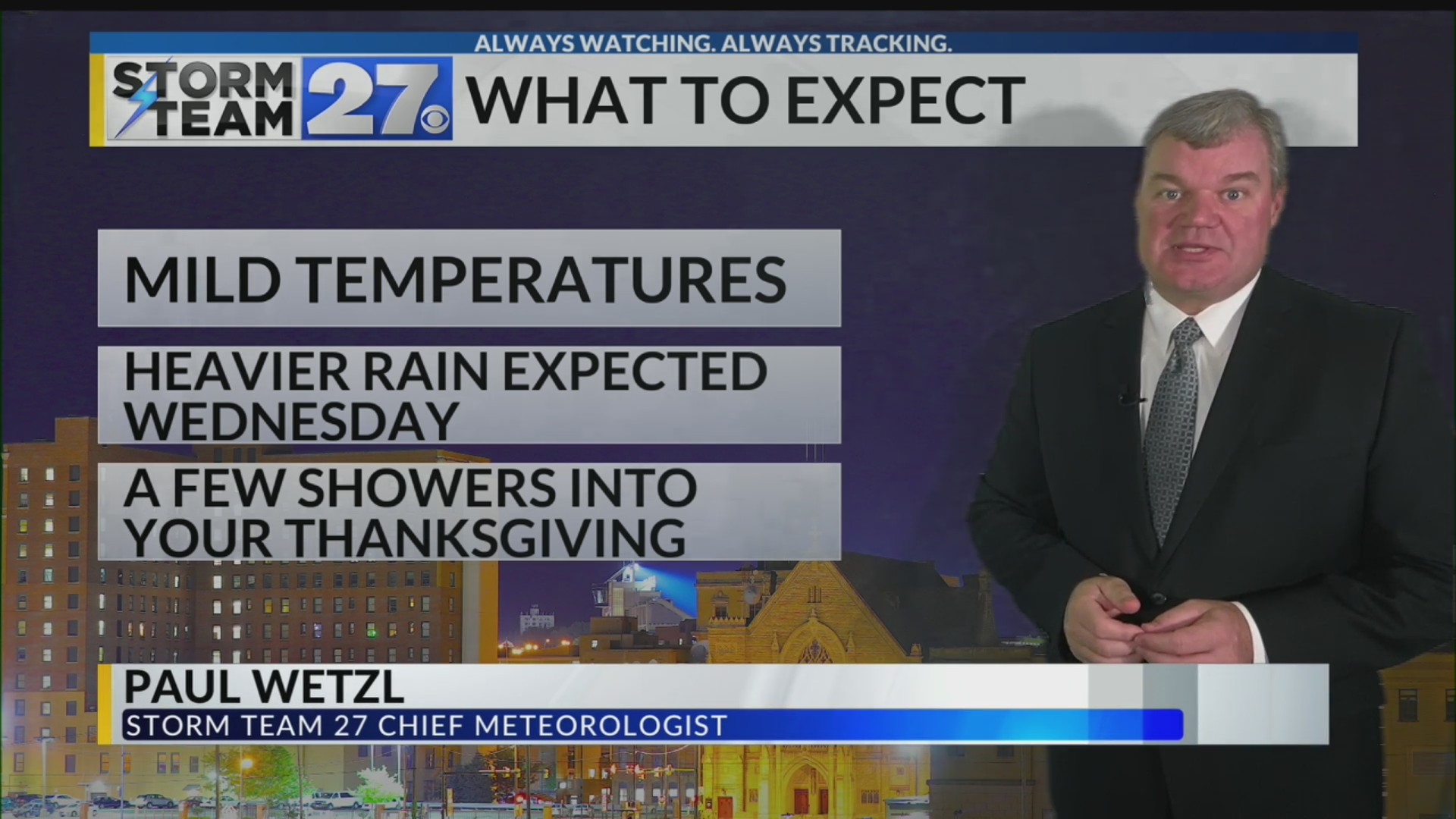 Rain showers move back in for your Wednesday