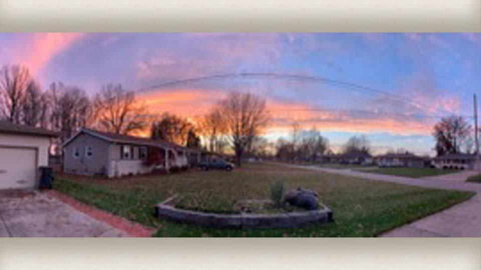 Austintown sunset by Richard