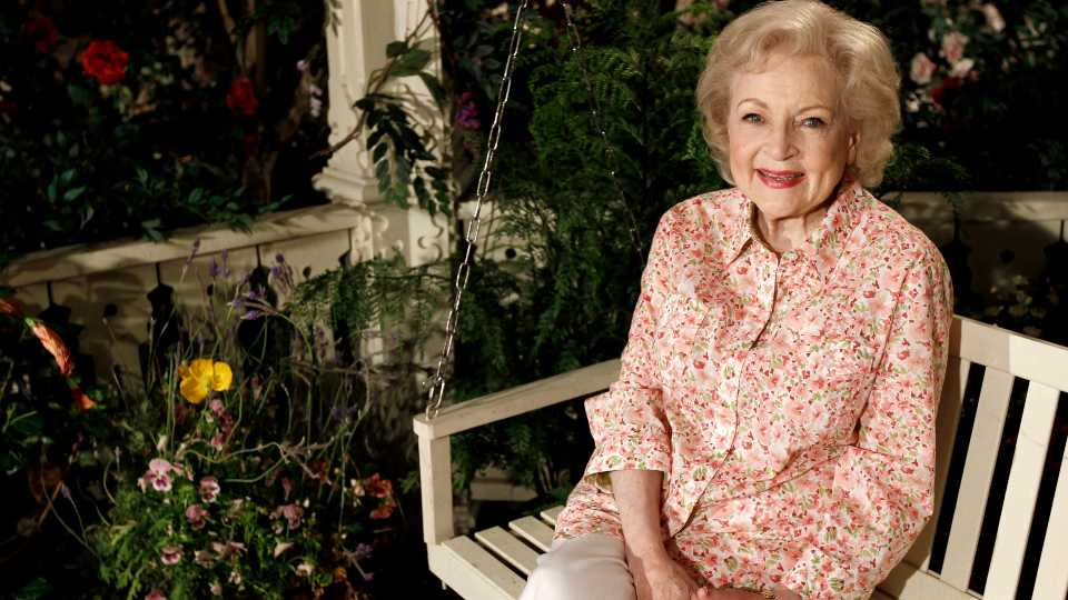 Actress Betty White poses for a portrait in Los Angeles on June 9, 2010. White will turn 99 on Sunday, Jan. 17.