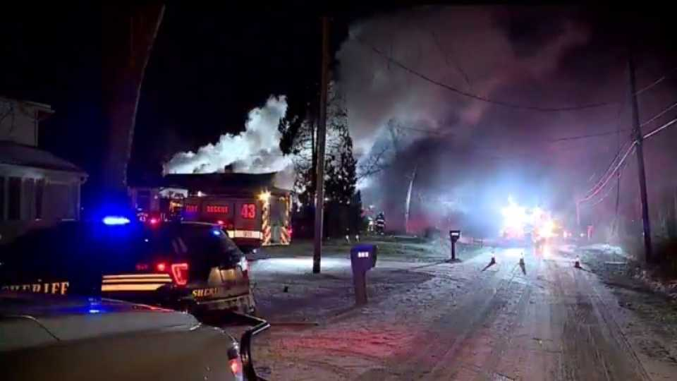 Multiple fire crews responded to a house fire in Lake Milton.