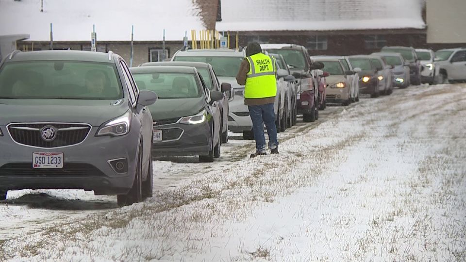 "Trumbull County officials are working out the ""kinks"" to get people moving through the drive-thru vaccination clinic at the fairgrounds faster."