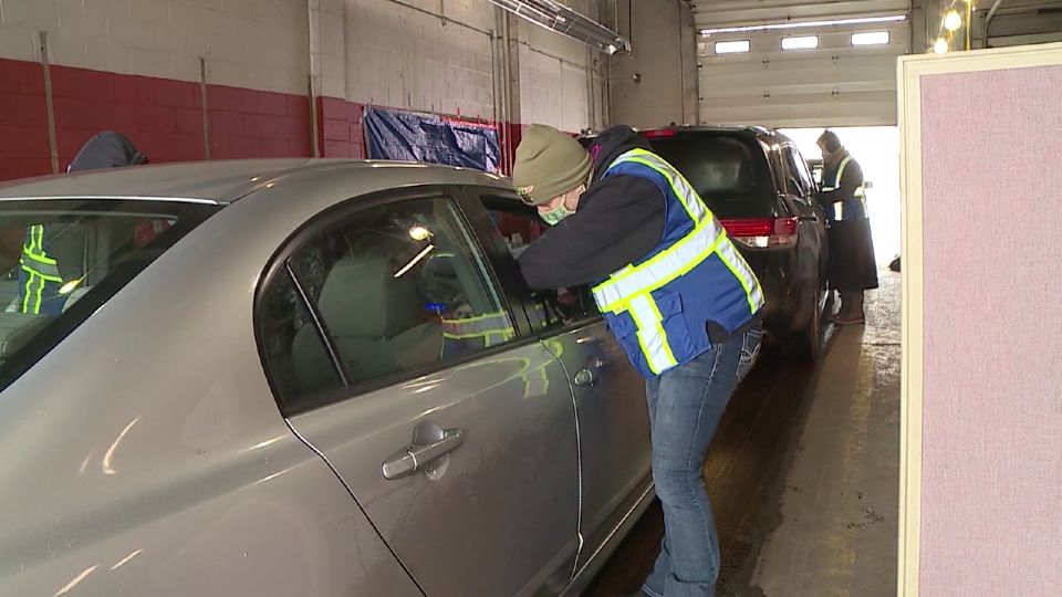 Trumbull County health officials had asked commissioners to use money from the CARES Act to build a new structure or modify the one they're currently using to allow for more vehicles at their drive-thru vaccine clinic.