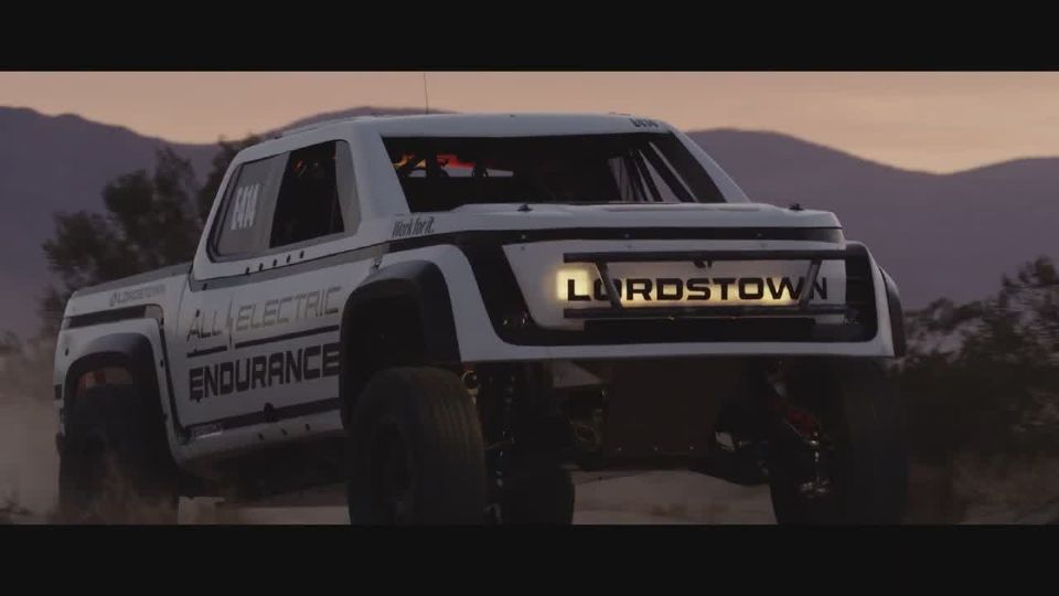 Lordstown Motors released a video Tuesday of the Endurance pickup truck that will compete in Saturday's San Felipe 250 in Baja California, Mexico.