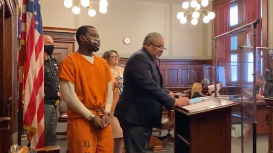 Kimonie Bryant, 24, was arraigned on a superseding indictment on charges in the Sept. 21 shooting death of Rowan Sweeney, 4, and the wounding of four others, in the Struthers home of Sweeney's mother on Perry Street in Struthers.