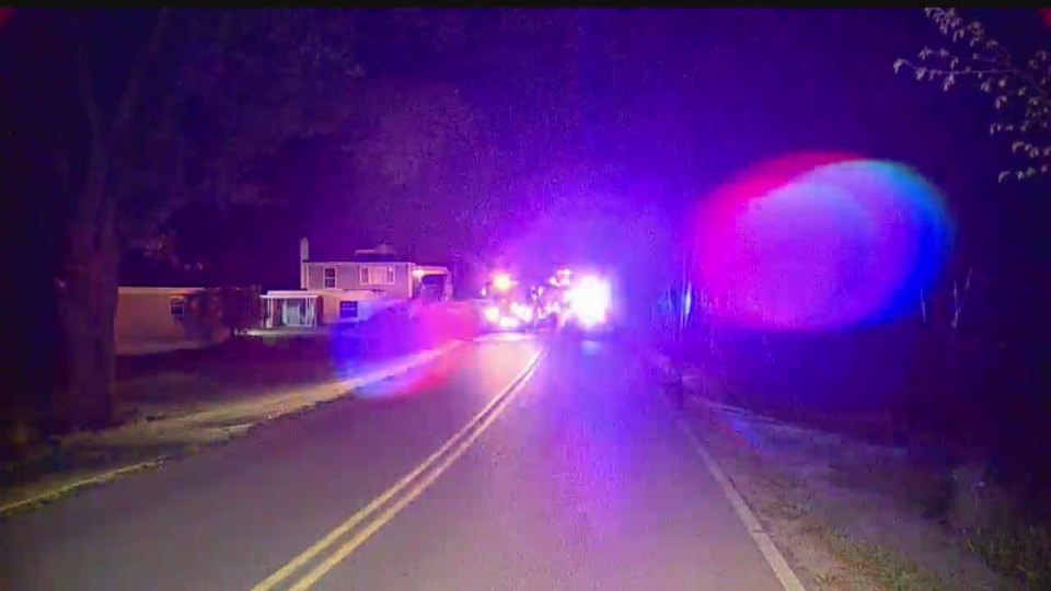 Driver hospitalized after hitting tree