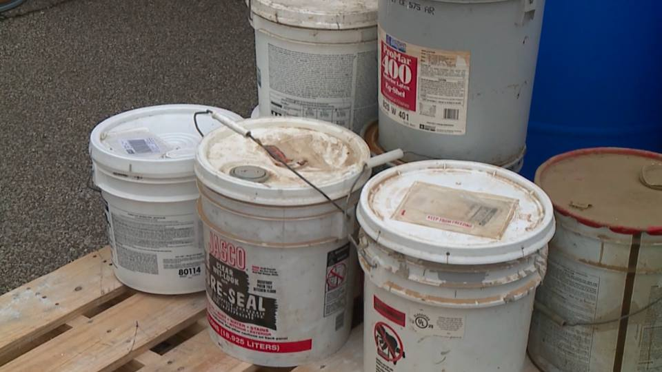 A household hazardous waste collection was held Saturday morning at the Canfield Fairgrounds.
