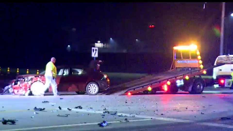 A driver was arrested on an OVI charge after a crash in Champion.