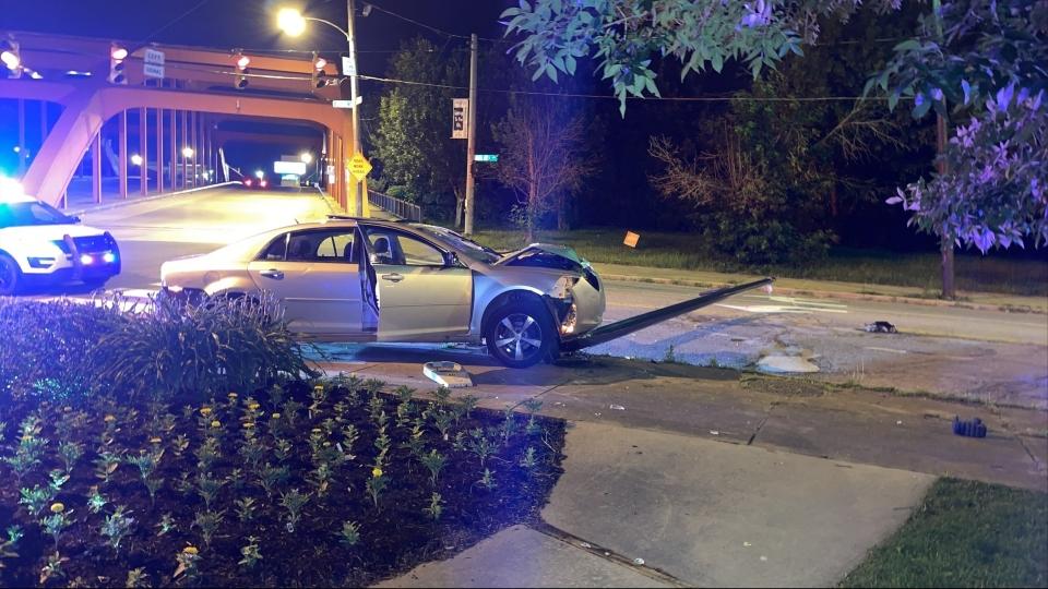 Crash on Oak Hill Avenue in Youngstown